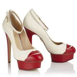 Charlotte Olympia Kiss Me Delores Lips Pumps Sz6